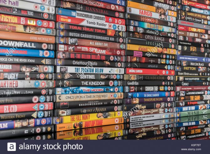 stack-of-dvd-movies-as-metaphor-for-dvd-movie-collection-films-and-K0P76T